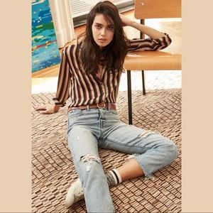 New!Heartloom stripes blouse